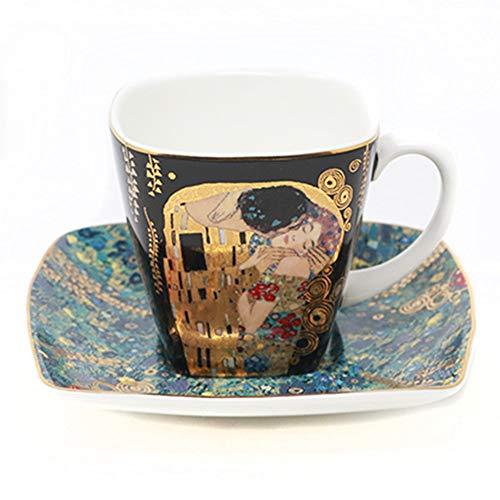 Goebel 66884727 Gustav Klimt Espressotasse mit Untertasse Der Kuss