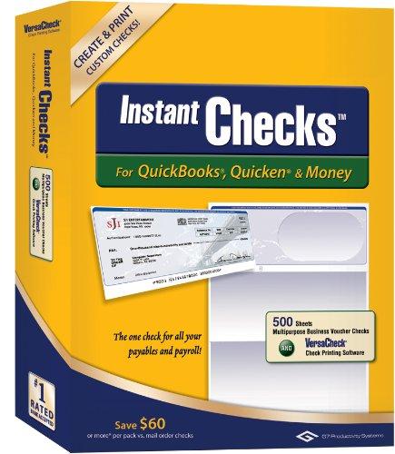 Instant Checks for QuickBooks, Quicken & Money: Form #1000 Business Voucher - Blue Graduated 500pk