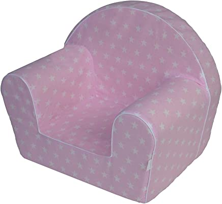MuseHouse Childrens Chair Armchair Children Room Sofa Seat Stool Kids Toddlers Childs Sofa seat  PINK-MHF125