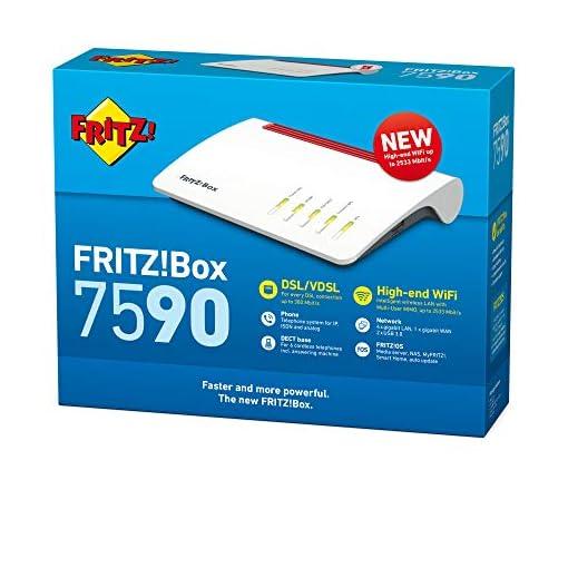 AVM FRITZ!Box 7590 - Modem Router 4x4 WiFi AC con MU-MIMO (1733 Mbps en 5 GHz y 800 Mbps en 2,4 GHz), VDSL, ADSL2+, 1 x… 2