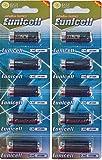 10 x LR1 / N/Lady 1,5V (2 Blister a 5 Batterien) Alkaline Batterie AM5, UM5 4001, 4901, MX9100, 910A EINWEG Eunicell FBA