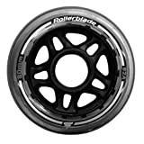 Rollerblade 80mm 82A Wheels, 6 Pack, Clear, US Unisex ST