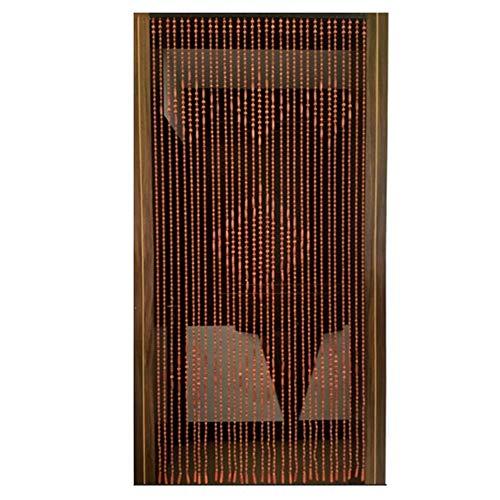GYC Naturholz Perlen Vorhang Tür Schnur Vorhänge Home Decor Divider Retro Nicht leicht zu verblassen, Größenanpassung (Farbe: 90x180CM-31 Aktien)