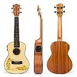 Best Aquila Acoustic Guitar Strings - Kmise Concert Ukulele Electric Acoustic Solid Spruce Top Review