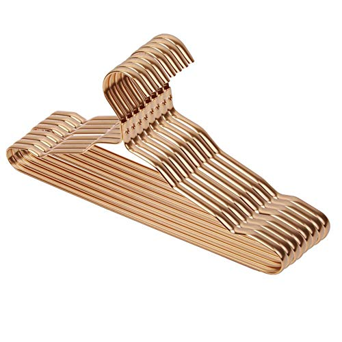 Ksydhwd - Perchas de aleación de aluminio para ropa doméstica, duraderas para niños, adultos, ropa colgada, suministros (oro)