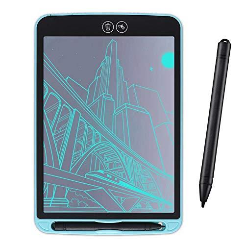 WHCCL Tableta de Escritura LCD, Tablero de Dibujo Digital Doodle de Escritura electrónica, con Llave de Bloqueo portátil, Borrador borrable, para niños Oficina Escolar en el hogar,Blue,15inch