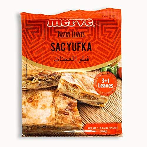 Merve Turkish Pastry Leaves, Sac Yufka, 500g, 3+1 leaves