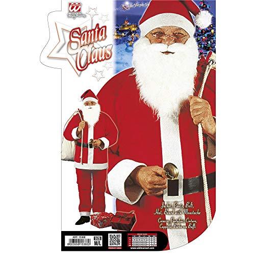 WIDMANN-Babbo Natale Costume Uomo, Multicolore, (Taglia Unica), 1536E