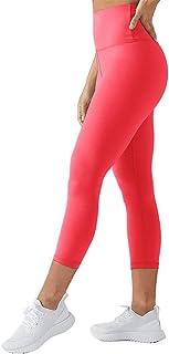 TNNZEET High Waisted Leggings for Women Plus Size Capri Tummy Control Workout Legging - Ultra Soft Tights Slimming
