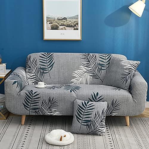 Funda de sofá Gris de Alta Elasticidad, Funda de sofá con patrón de Colores, Funda de sofá Universal Ultrafina, Funda de sofá pequeña, Mascotas para niños A34 1 Plaza