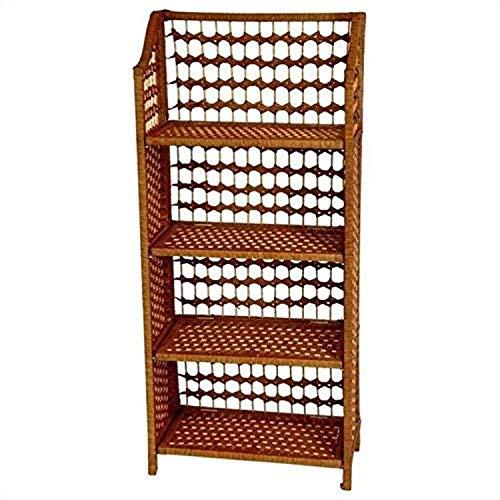 Wicker Rattan Bookshelf