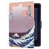 Huasiru Peinture Étui Housse Case pour Amazon Kindle Voyage (7ème génération) 6 Pouces Cover, Le Surf