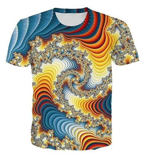 RKWEI T-shirt à manches courtes pour homme avec impression 3D éblouissante pour femme XXL multicolore