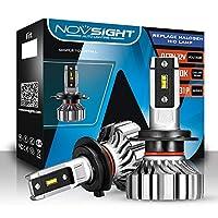 NOVSIGHT H7 LEDヘッドライト 新車検対応 10000LM 50W ファンレス 360°調整可能 驚異の純正ハロゲンサイズ登場 99%車種対応 360°発光 2年保証 静音 2個セット