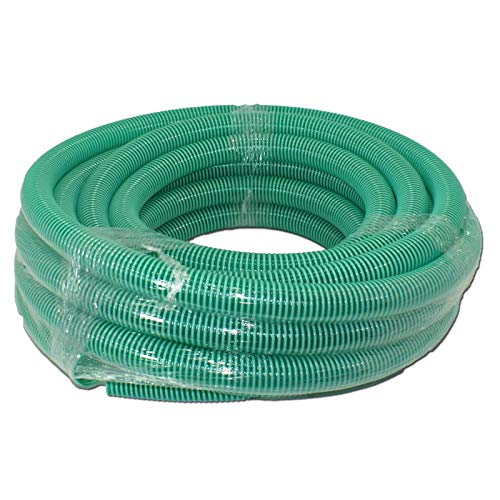 STABILO Sanitaer Spiralschlauch 1 1/2 Zoll 40 mm 25m PVC Schlauch Saugschlauch Teichschlauch Druckschlauch Spiralsaugschlauch