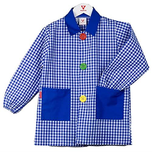 KLOTTZ - Babi colegio niño Bata escolar niño con cuello pico y corte recto niños color: AZUL talla: 3