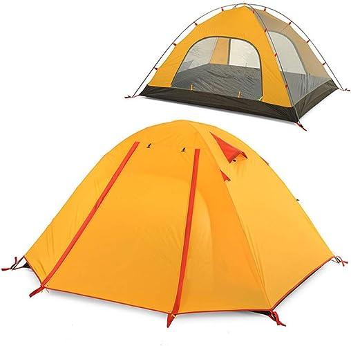 YANABC Tente de Camping en Plein air 3 Personnes 4 Saisons Grande Tente de Tourisme imperméable léger et imperméable