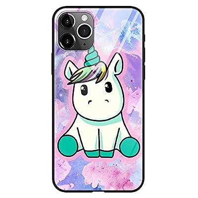 """ZhuoFan Funda para Samsung Galaxy A12, Cárcasa Silicona 3D Cristal Templado con Dibujos diseño Antigolpes de Protector Case Cover Piel Fundas Movil para Samsung A12 6,5"""", Unicornio"""