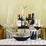 Personalidad Decantador de vino y gafas Set Crystal Anter en forma de caracol de caracol Red Vino Rápido ANTER A Mano Spresado Línea de plomo CRISTAL CRISTAL, BEADS1500 ML Diseño transparente Botella