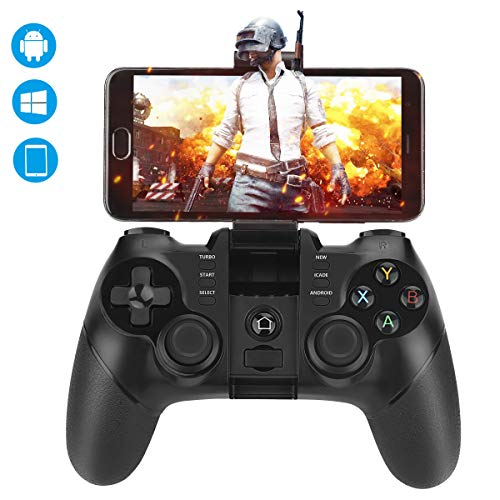 Achort Bluetooth-Gamecontroller, 2,4-G-Wireless-Gamepad mit USB-Joystick-Controller für iOS, Android, Windows PC, PS3, Smart-TV, VR