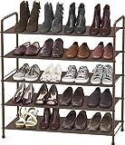 Simple Houseware 5-Tier Shoe Rack Storage Organizer, Bronze