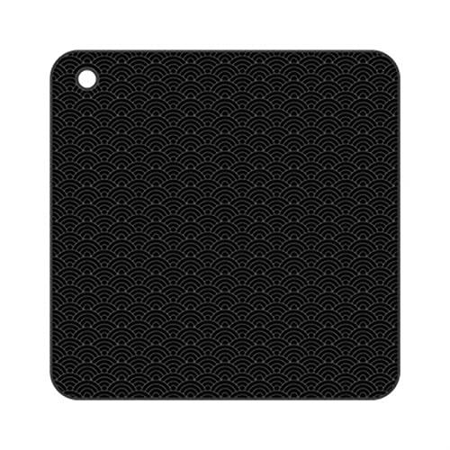 HNGM Placemat Bänkskiva varm pottpottmatta värmebeständig matbord placera matta silikonmatta (Color : SE BK)