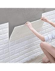 10 stuks 3D-zelfklevend behang, waterdichte muurstickers, baksteenbehang, wandbehang, schuimrubber voor slaapkamer, woonkamer, tv-wand, huisdecoratie