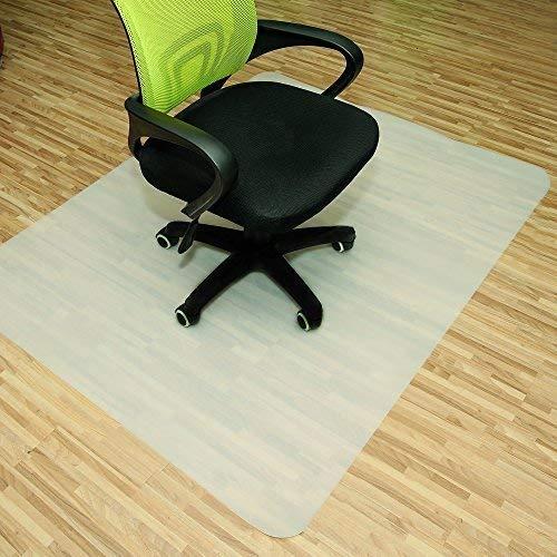 Rapid Teck® Bodenschutzmatten 120cm x 120cm für Hartböden in 6 Größen Bürostuhlunterlage Bodenschutzmatte Semi transparent