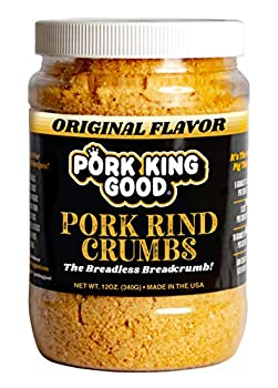 Pork King Good Low Carb Keto Diet Pork Rind Breadcrumbs! Perfect For Ketogenic Paleo Gluten-Free Sugar Free and Bariatric Diets  Original   Original 12 Oz Jar