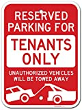 UT-TP Reserved Parking Towing enforced Tenant Parking Only Signo, Made Out of .040 Rust-Free Aluminum Use, UV Protected and Fade-Resistant,