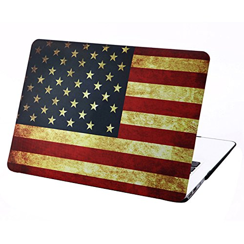 WoW store Retro US Flag Pattern Frosted Hard Plastic Protective Case for MacBook Air 13.3 inch