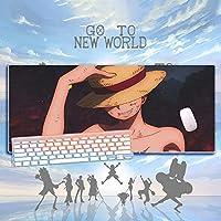 大型900X400mm耐久性ゴムゲーミングマウスパッドファッションラップトップノートブックオフィスデスクマットコンピューターゲーマーノンスライドマウスパッドワンピース-A_800x300x3mm