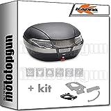 kappa maleta k56nt 56 lt + portaequipaje monokey compatible con kymco downtown abs 125 350 i 2020 20