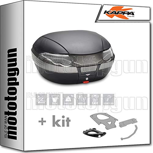 kappa maleta k56nt 56 lt + portaequipaje monokey compatible con bmw f 750 gs 2020 20