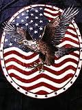 USA KUSCHELDECKE Tagesdecke Decke mit ADLER - WAPPEN 160x200cm