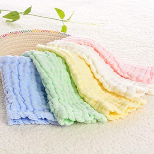 OUNONA OUNONA Baby Reine Baumwolle Sechs Lagen Gaze Handtuch rechteckig Spucktuch Weich saugf?hig Gesicht Handtuch (gelb)