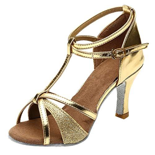 POLP Sandalias Vestir Mujer Danza Zapatos Tacón Bajo