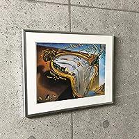 ポスター サルバドール ダリ 特別額装マット作品/アートポスター/柔らかい時計 額装品 アルミ製ベーシックフレーム(ライトブロンズ)