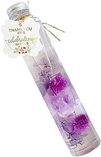 ハーバリウム プリザーブドフラワー ドライフラワー HANATOMO カーネーション 紫陽花 母の日 花 ギフト ボックス入り (【母の日ボトル】パープル)