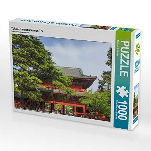 CALVENDO Puzzle Tokio - Sangedatsumon Tor 1000 Teile Lege-Größe 64 x 48 cm Foto-Puzzle Bild von Michael Schindler