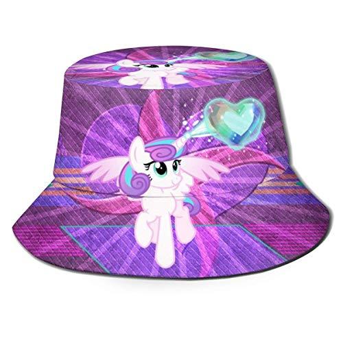 My Little Rainbow Pony Unicorn Heart Anime Sombrero de Pescador Lindo Verano...