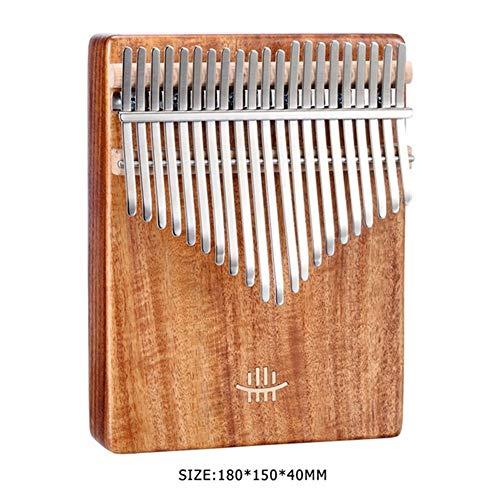 Kalimba, Daumenklavier 21 Keys Daumenklavier Mahagoni Ahorn Akazie Walnuss mit Skala Aufkleber-Stoff-Tasche Und Tuning Hammer Musical Instrument Dekoration (Color : Acacia)