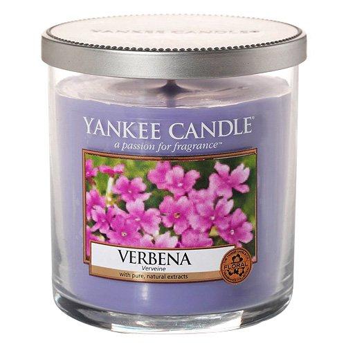 Yankee Candle 1507758e Small Pillar Verbena–Vela perfumada, cristal, lila, 8,7x 7x 7cm