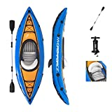 Bestway Hydro-Force Cove Champion Inflatable Kayak Set | Includes Double-Sided Paddle, Extra Storage, Grab Rope, Hand Pump | Convenient & Portable Kayak