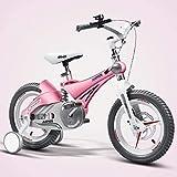 Triciclo Bebé Trolley Trike Bicicleta for niños convenientes, 14/16 pulgadas Cochecito de bebé 3-6 años de edad Bicicleta de montaña Bicicleta Bicicleta Bicicleta Bicicleta cómoda (Color: Rosa, Tamaño