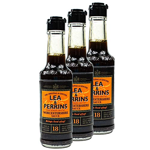 Lea & Perrins - 3er Pack Original Worcestershire Sauce in 150 ml Glasflasche (Würzsauce) - Traditionell englische Worcester Worcestersauce