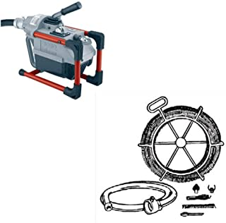 Ridgid 66492 K-60 Sectional Machine Drain Cleaner & Ridgid 48472 Kit A35 Cable