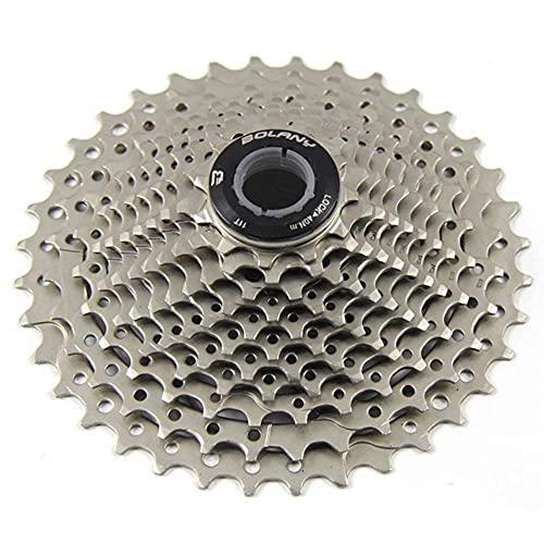ZHTT Cassette de Bicicleta de Carretera 8/9/10/11, piñón de Cassette de Acero de Ciclo 11-25/28/32/36T, Apto para Bicicletas de Carretera Shimano/SRAM/FSA/Campagnolo/KMC