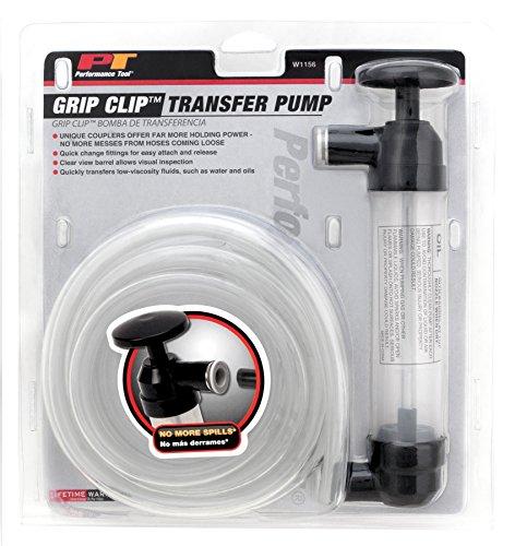 Performance Tool W1156 Grip Clip Transfer Pump  Siphon Fluid Transfer Pump Kit for Water, Oil, Liquid, and Air