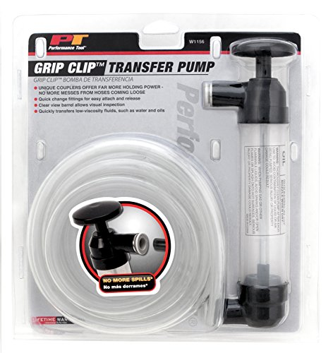 Performance Tool W1156 Grip Clip Transfer Pump/ Siphon Fluid Transfer Pump Kit for Water, Oil, Liquid, and Air